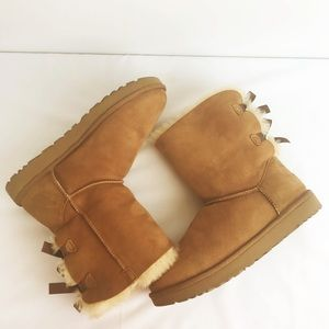 NEW UGG Chestnut Bailey Bow Boots